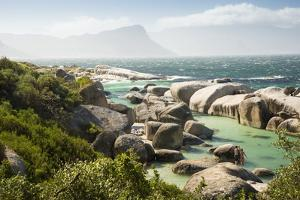 Second Beach at High Tide with Boulders Visible, Boulders Beach National Park, Simonstown by Kimberly Walker