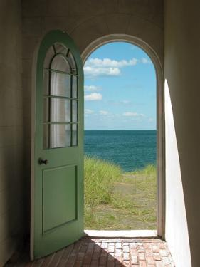 Arched Doorway to Beach by Kimmit
