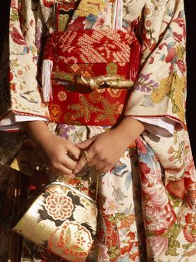 Kimono and Handbag, Traditional Dress, Japan