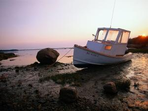 Boat on Shore, Jonesport, ME by Kindra Clineff