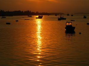 Boats at Sunset, Jonesport, ME by Kindra Clineff