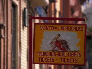 Bullfighting Sign, Santa Cruz, Seville, Spain by Kindra Clineff