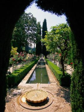 Garden and Fountain, Granada, Spain by Kindra Clineff