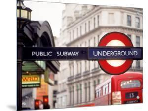 Public Subway Sign, London, England by Kindra Clineff