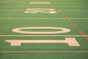 The Ten Yard Line on a Football Field by Kindra Clineff
