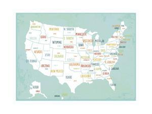 Aqua USA Map by Kindred Sol Collective