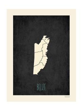 Black Map Belize by Kindred Sol Collective