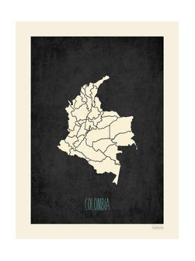 Black Map Colombia by Kindred Sol Collective