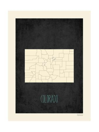 Black Map Colorado by Kindred Sol Collective