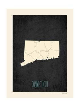 Black Map Connecticut by Kindred Sol Collective