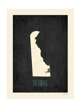 Black Map Delaware by Kindred Sol Collective