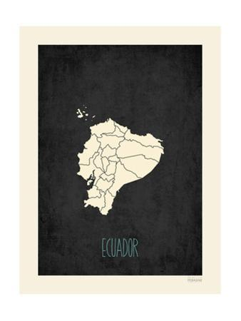 Black Map Ecuador by Kindred Sol Collective