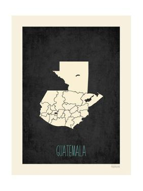 Black Map Guatemala by Kindred Sol Collective