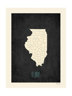 Black Map Illinois by Kindred Sol Collective