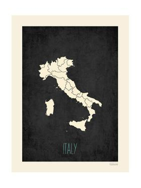 Black Map Italy by Kindred Sol Collective