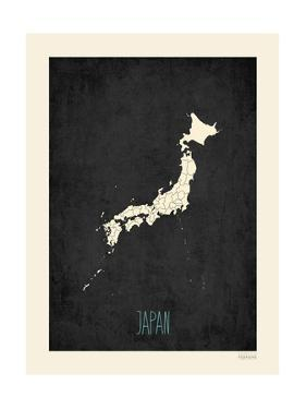Black Map Japan by Kindred Sol Collective