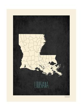 Black Map Louisana by Kindred Sol Collective