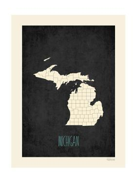 Black Map Michigan by Kindred Sol Collective
