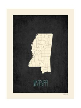 Black Map Mississippi by Kindred Sol Collective