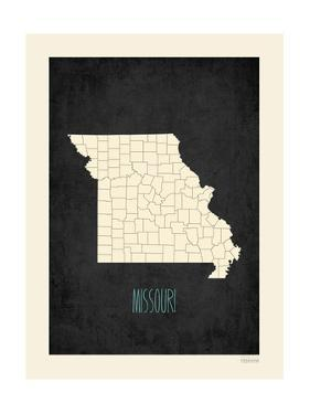 Black Map Missouri by Kindred Sol Collective