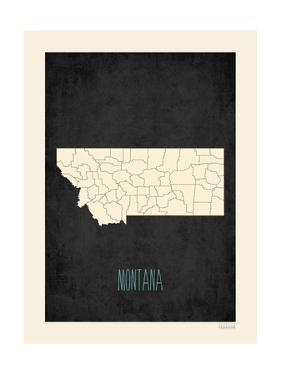 Black Map Montana by Kindred Sol Collective
