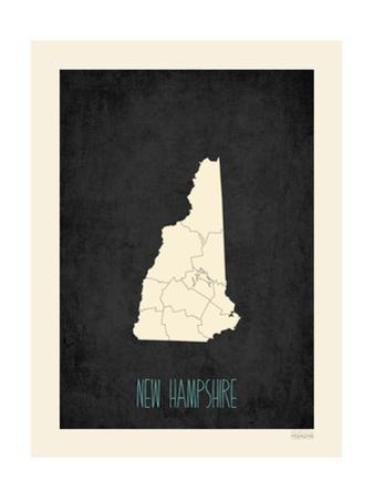 Black Map New Hampshire by Kindred Sol Collective
