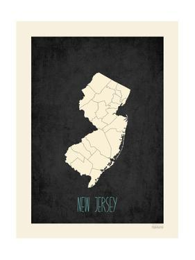Black Map New Jersey by Kindred Sol Collective