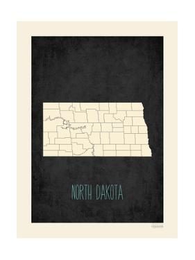 Black Map North Dakota by Kindred Sol Collective