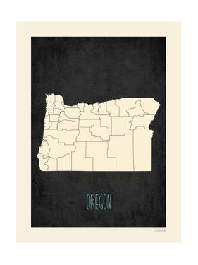 Black Map Oregon by Kindred Sol Collective