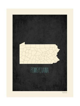 Black Map Pennsylvania by Kindred Sol Collective