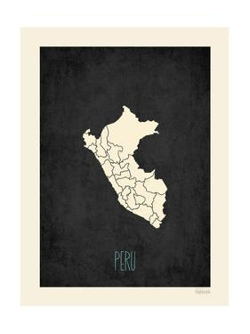 Black Map Peru by Kindred Sol Collective