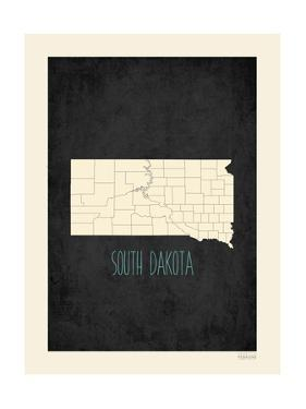 Black Map South Dakota by Kindred Sol Collective