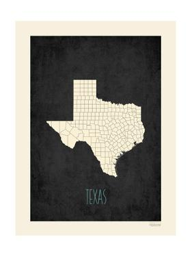 Black Map Texas by Kindred Sol Collective