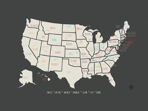 Black Map USA by Kindred Sol Collective
