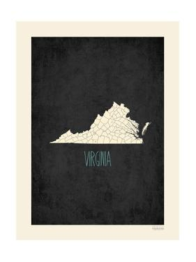 Black Map Virginia by Kindred Sol Collective