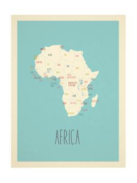 Blue Africa Map by Kindred Sol Collective