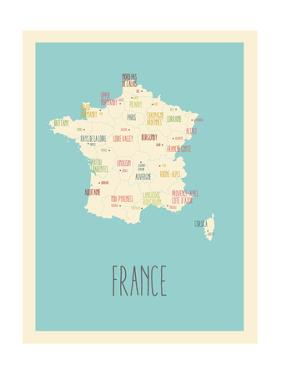 Blue France Map by Kindred Sol Collective