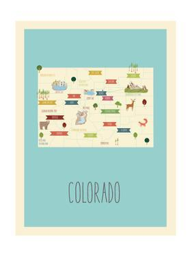 Colorado Blue Map by Kindred Sol Collective