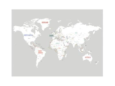 Light Grey World Map by Kindred Sol Collective