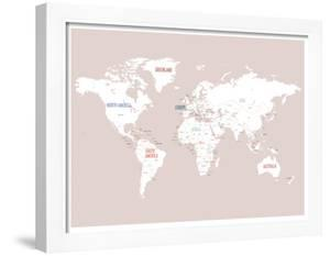 Pink World Map by Kindred Sol Collective