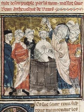 King Clovis I's Baptism by Saint Remigius, Bishop of Reims