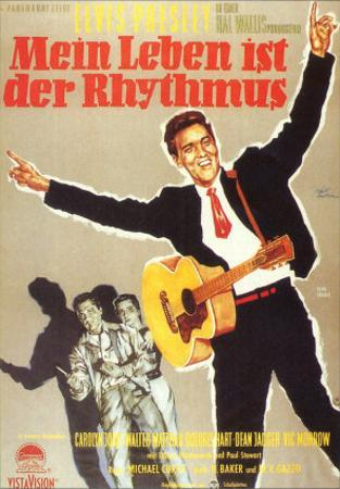 King Creole, German Movie Poster, 1958