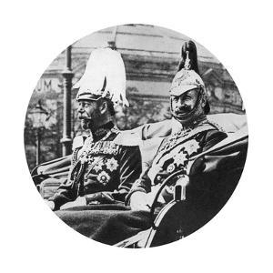 King George V of Great Britain and the German Kaiser, Berlin, 1913