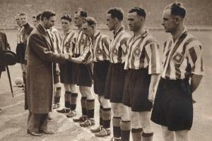 King George Vi and Queen Elizabeth Attend the Association Football Cup Final, 1937