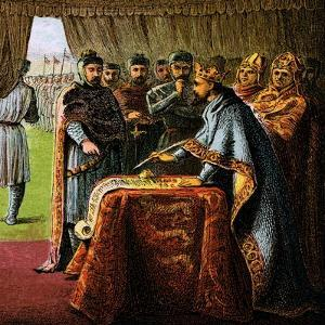 King John and the Magna Carta, 1215