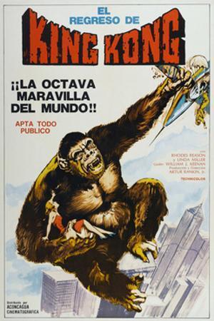 KING KONG ESCAPES, (aka EL REGRESO DE KING-KONG), Argentinan poster, King Kong, 1967