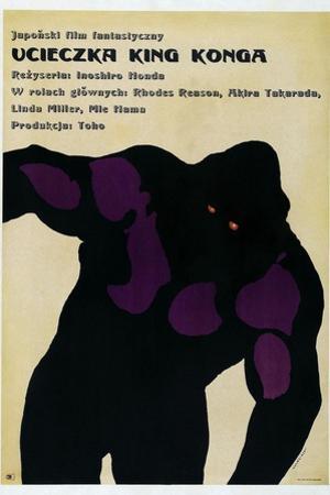 King Kong Escapes, (aka Ucieczka King Konga), Polish poster, King Kong, 1967