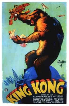 King Kong, Swedish Poster Art, 1933