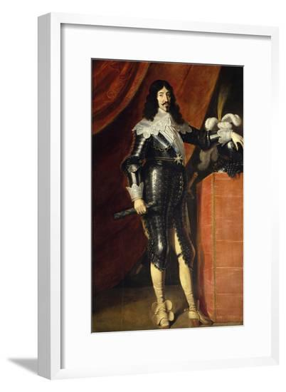 King Louis XIII in Armor, Ca. 1635--Framed Giclee Print