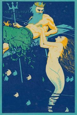 King Neptune with Mermaid